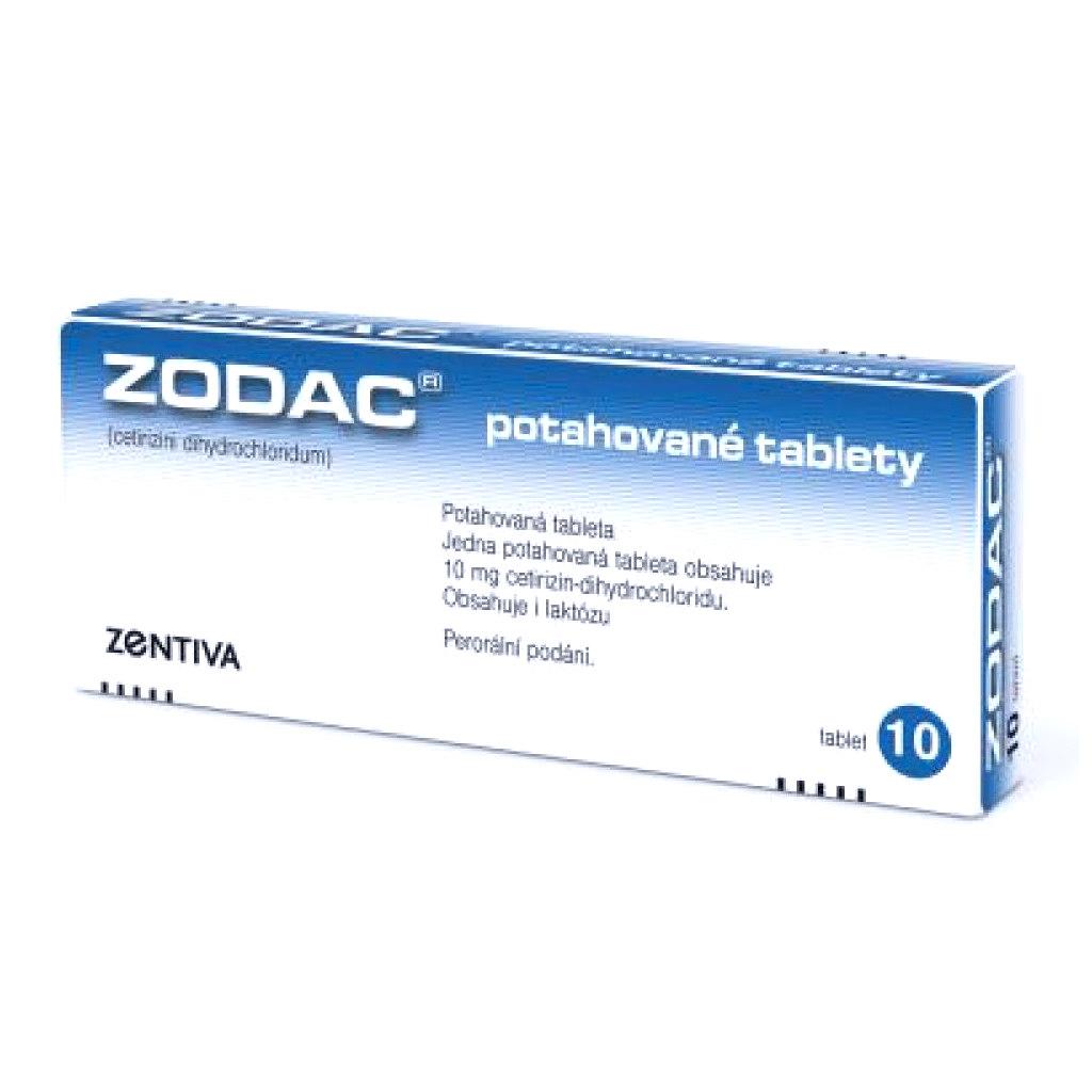 Zodac 10 mg příbalový leták
